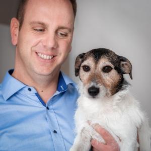 Tim Urban und Hund